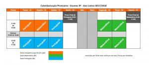 Calendarização Preparação para Exames 9º