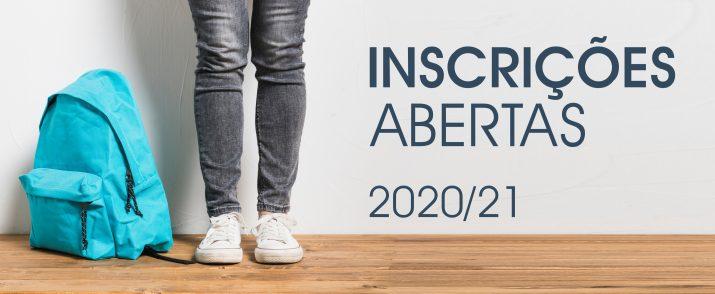 Inscrições Abertas Ano Letivo 2020/2021